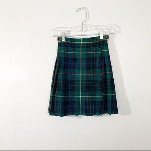 LAIRD PORTCH OF SCOTLAND Wool Plaid Skirt Kilt